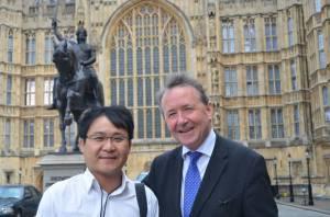 Jang Jin-sung at Westminster
