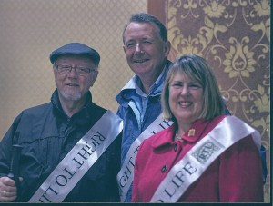 With Jim Dobbin MP and Fiona Bruce MP, Co-Chairmen of the All Party Parliamentary pro Life Group on the 2012 Right To Life Sponsored walk in the Ribble Valley
