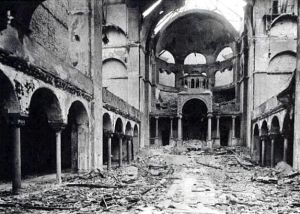 Fasanenstrasse Synagogue, Berlin, after Kristallnacht in 1938