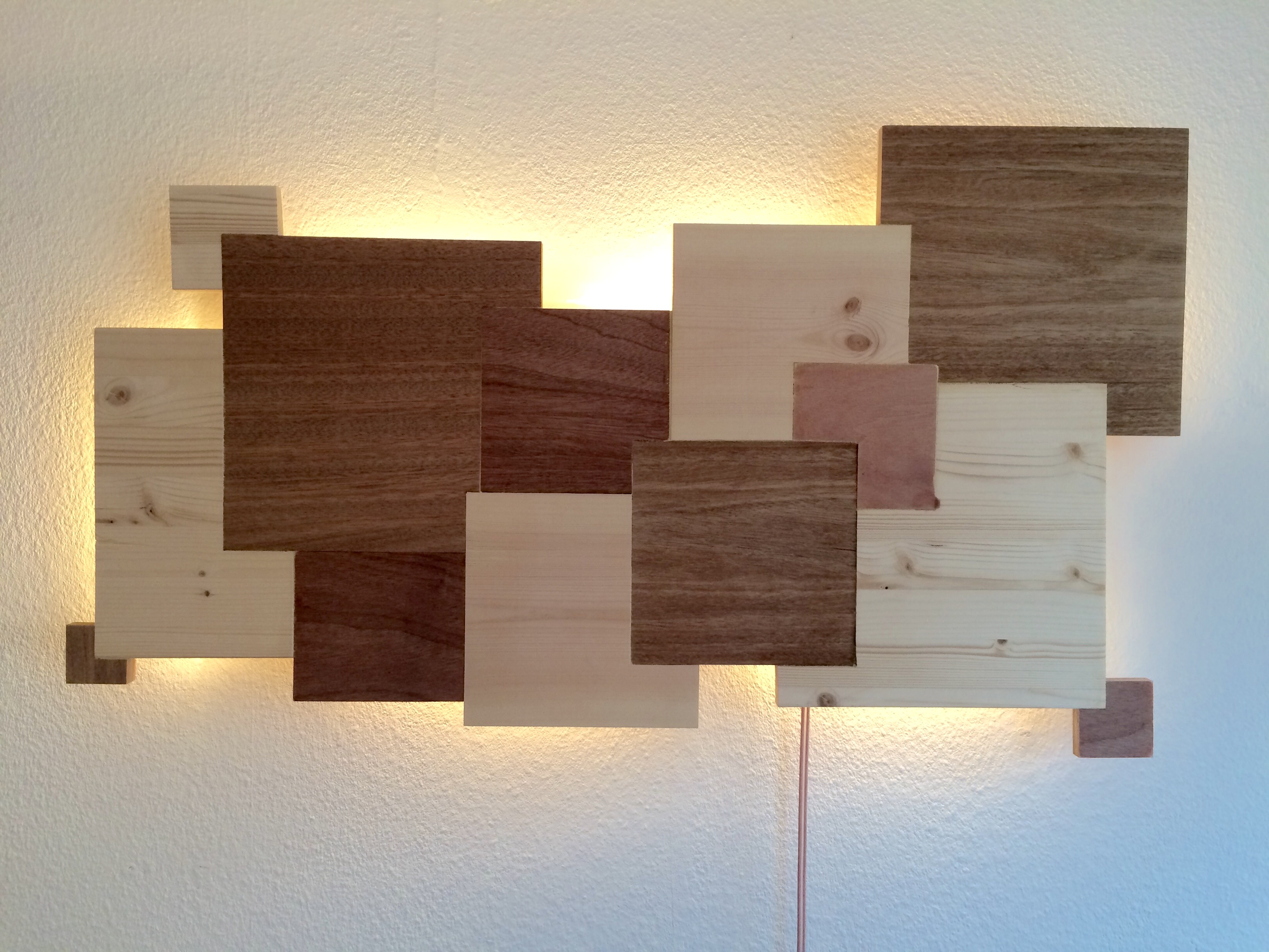 Fabulous David Bakker lamp muur hout - David Bakker @JC77