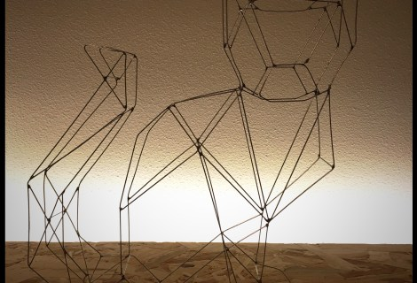 Wire art cat