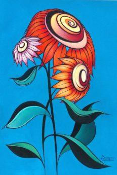 Sunflower in Blue II.
