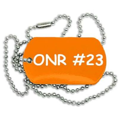 ONR Dog Tags designed by Aleph David Wittenberg to be sold at Kallah 2016 and RC 2016