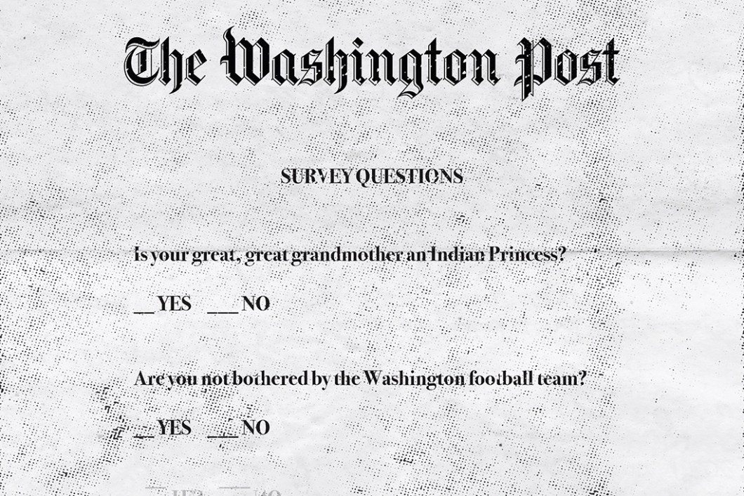 David Bernie Racism Poll Washington Redskins Indian Country 52 Week 21