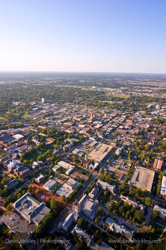 Aerial image of Columbia, Missouri