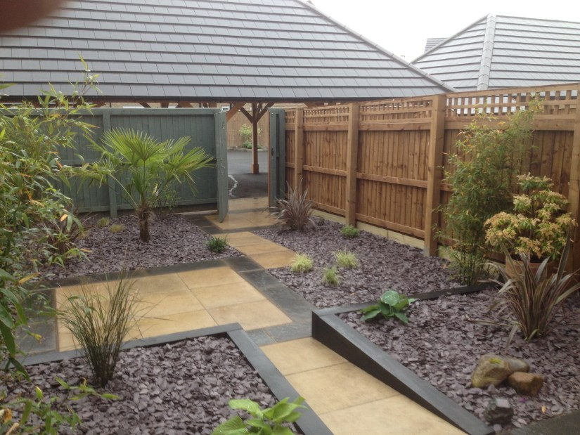 Modern minimalist garden