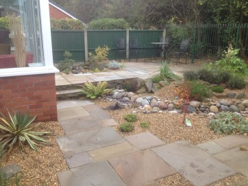 Dry river bed with gravel