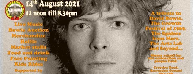 'Bowie's Beckenham Oddity' Is Back, Saturday August 14th 2021!