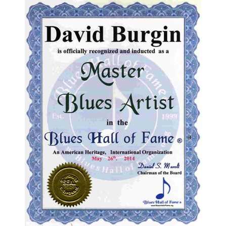 David Burgin Master Blues Artist