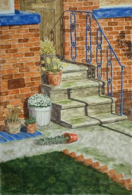 Painting of doorsteps