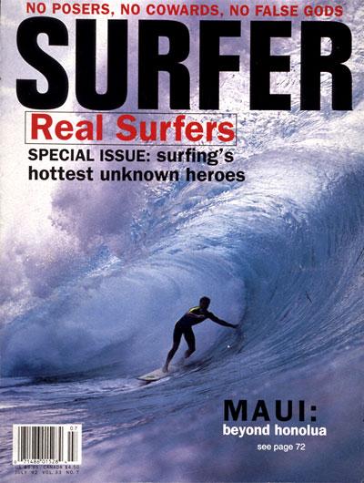 30 cover for surfer magazine  david carson design