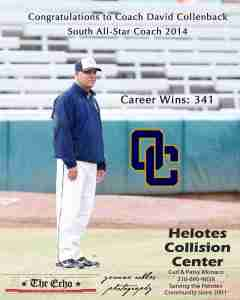 Coach David Collenback - South All Star Coach 2014