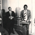Opening of the Bulawayo Legal Projects Centre by Chief Justice Enock Dumbutshena 1987