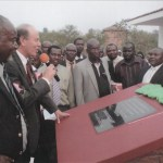 Opening a new classroom block in Masvingo Province 2010