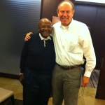 Meeting with Archbishop Desmond Tutu in South Africa 2012