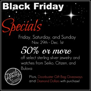 Black Friday Jewelry Specials