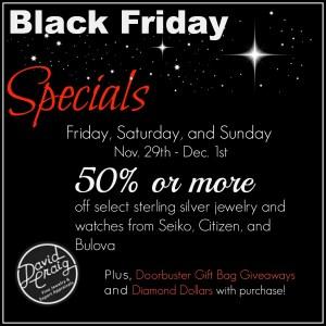 Black Friday Jewelry Specials