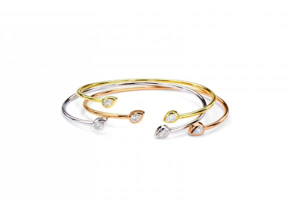 Forevermark Pear Shaped Duet Cuffs