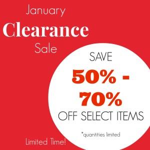 January Clearance Jewelry Sale