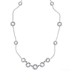 Anzie Collection: Mélia Necklace – Clear Topaz & Silver