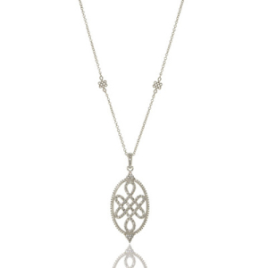 Freida Rothman Open Oval Love Knot Necklace