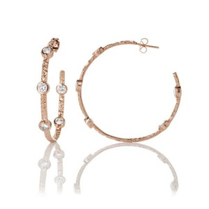 Freida Rothman Starry Night Hoop Earrings