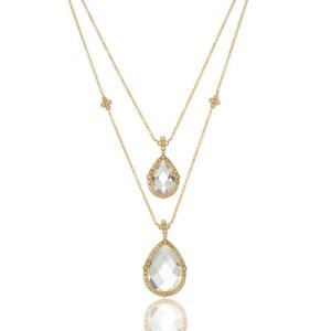 Freida Rothman Luxure Double Teardrop Layer Necklace