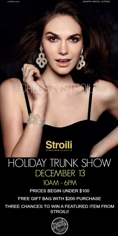 Stroili Trunk Show at David Craig Jewelers 2014