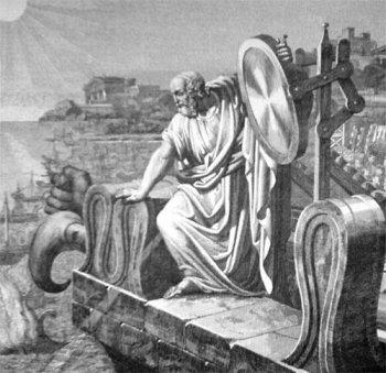 Arhimede și oglinzile arzătoare