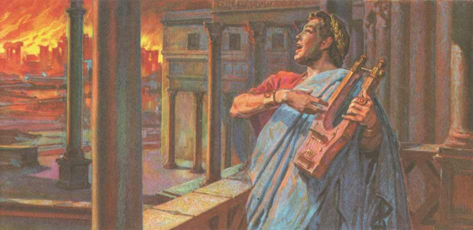 Image result for While Rome Burned, The Mad Emperor Nero Played The Fiddle
