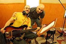 David de la Fuente y Pablo Ruiz grabando