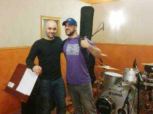 Grabación batería y bajo Sergio Romero
