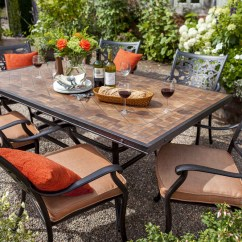 Two Seater Garden Table And Chairs Swivel Chair Regal Celtic Aria 6 Seat Rectangular Dining Furniture Set - David Domoney