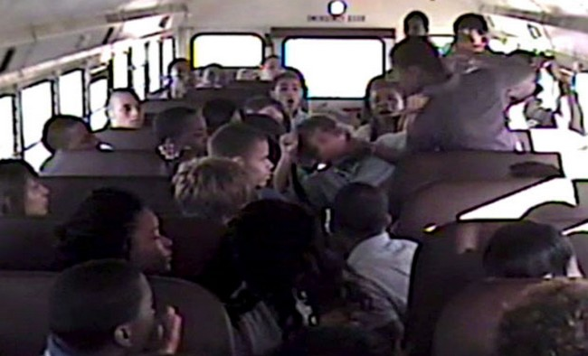 Melee on a school bus..should parents step in..EVER?