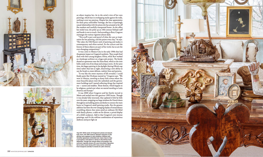 Published Now in Interior Magazines Spaces Magazine Winter 2017