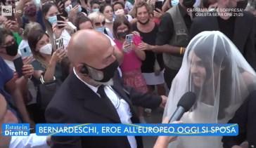 Federico Bernardeschi e Veronica Ciardi si sposano: «Estate in diretta» cattura il ritardo dello sposo