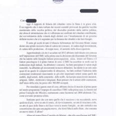 Parte A della lettera