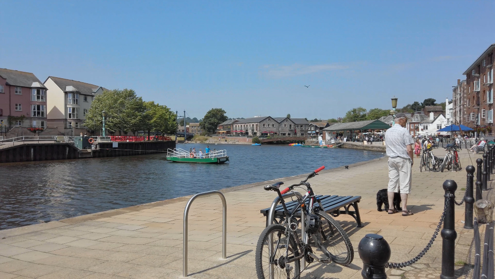 Exeter Quayside on a sunny morning 1
