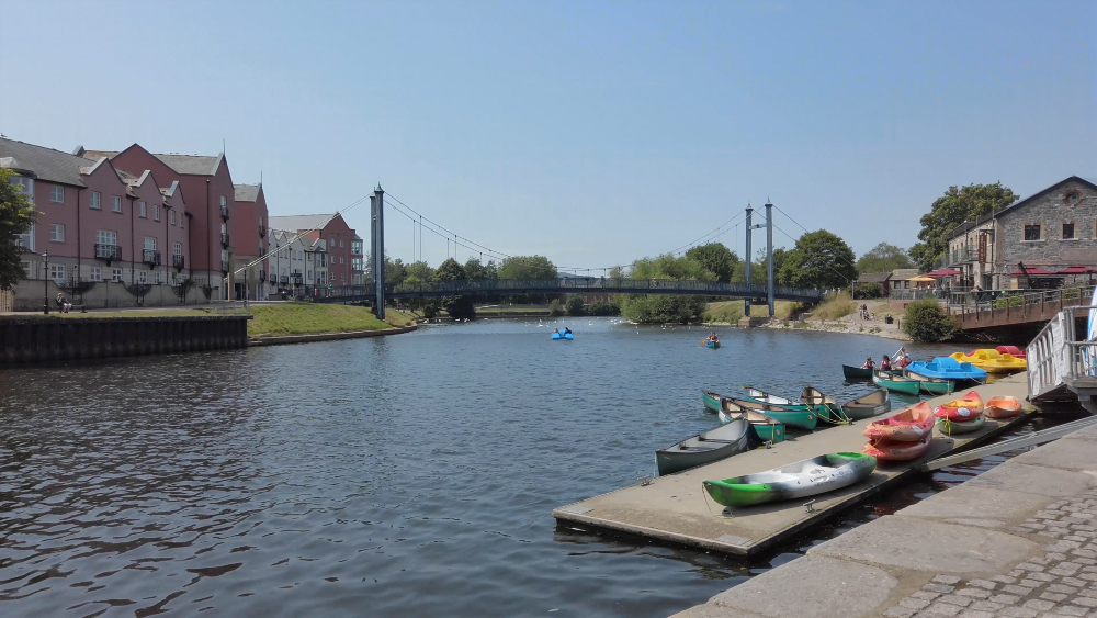 Exeter Quayside on a sunny morning 3