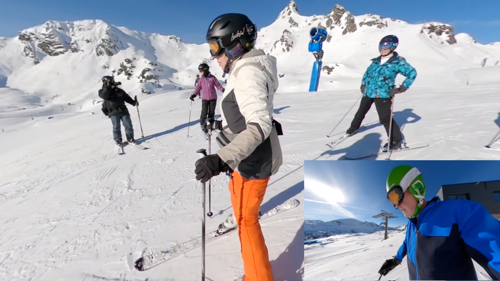 Skiing with friends at Obertauern