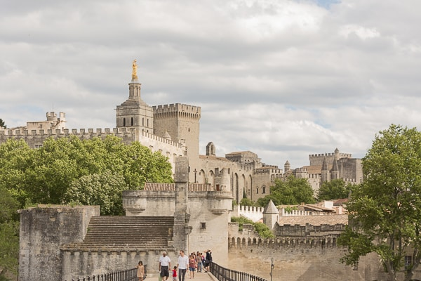 The Walls of the Palais Des Papes