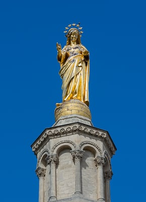 The Virgin Mary on Cathédrale des Doms