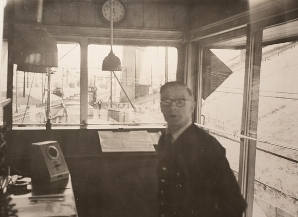 Taken sometime in the 1950's in the signal box at Gamesley sidings