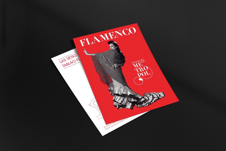 TABLAO FLAMENCO METROPOL _ Poster Design - David Guillén
