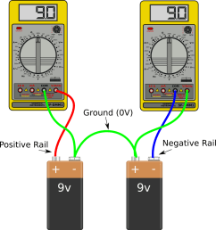 two batteries in series can form a split power supply [ 1012 x 1080 Pixel ]