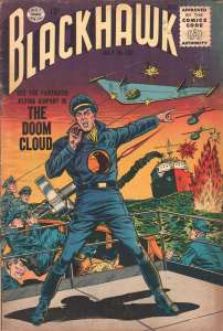 The cover of my Blackhawk comic book (July 1956).
