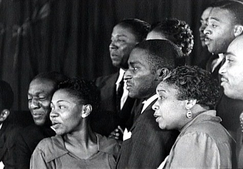 "A choir directed by Juanita Hall sings ""Ezekiel Saw the Wheel"" in New York City, 1937.  Filmed by the Works Progress Administration (WPA); used by permission of www.criticalpast.com."