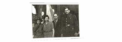 Mary Simeone in 1941; her son Anthony on the left, her husband Salvatore and her son Guy on the right. From IUR, Winter 1996.