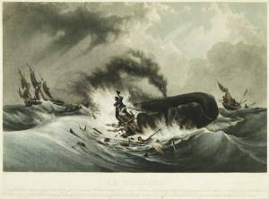 """Each [dragon's] head is pierced with a hole … and he vibrates wind through that hole upward."" Painting ca. 1840."