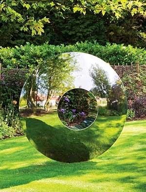 Contemporary Garden Sculpture  Stainless Steel Sculpture